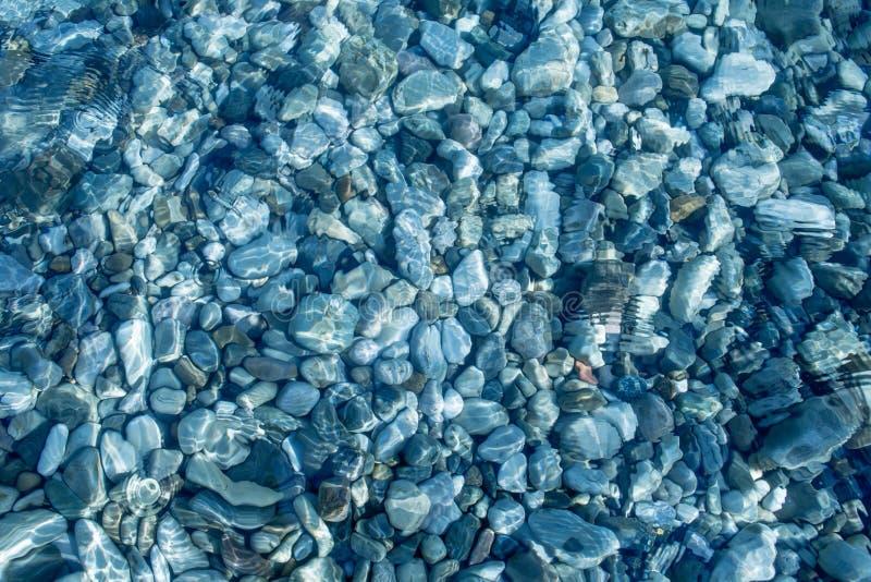 清澈海水顶视图 库存图片