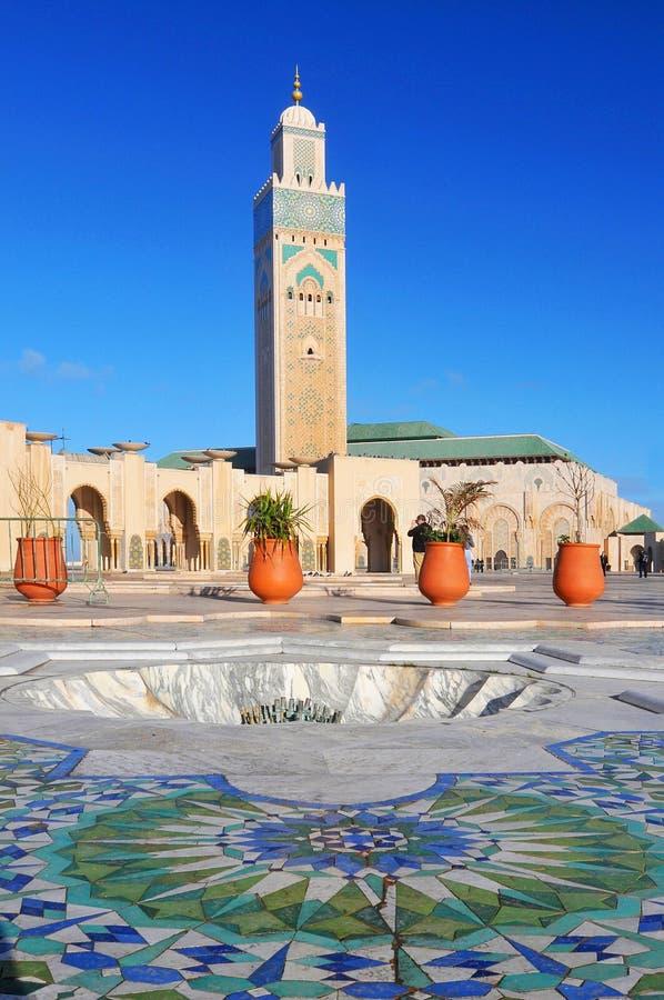 清真大寺哈桑二世在卡萨布兰卡,摩洛哥 免版税库存图片