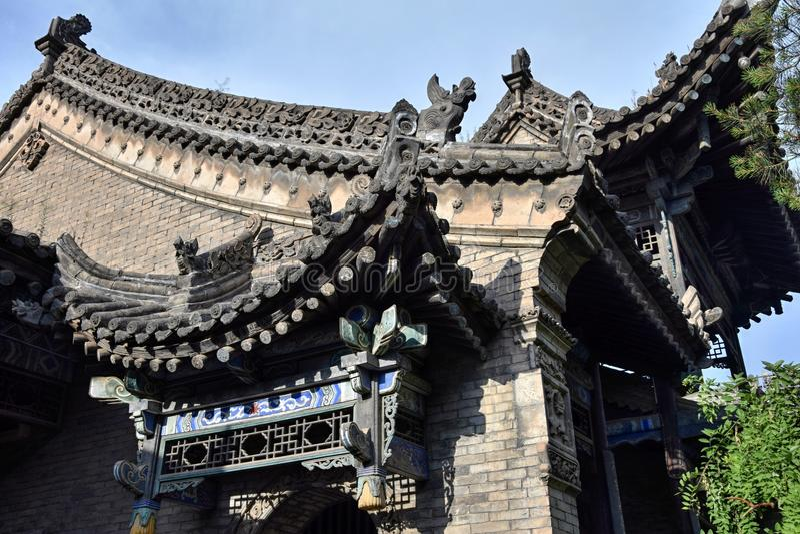 清真大寺在大都会XiÂ'An,陕西,中国 免版税库存照片