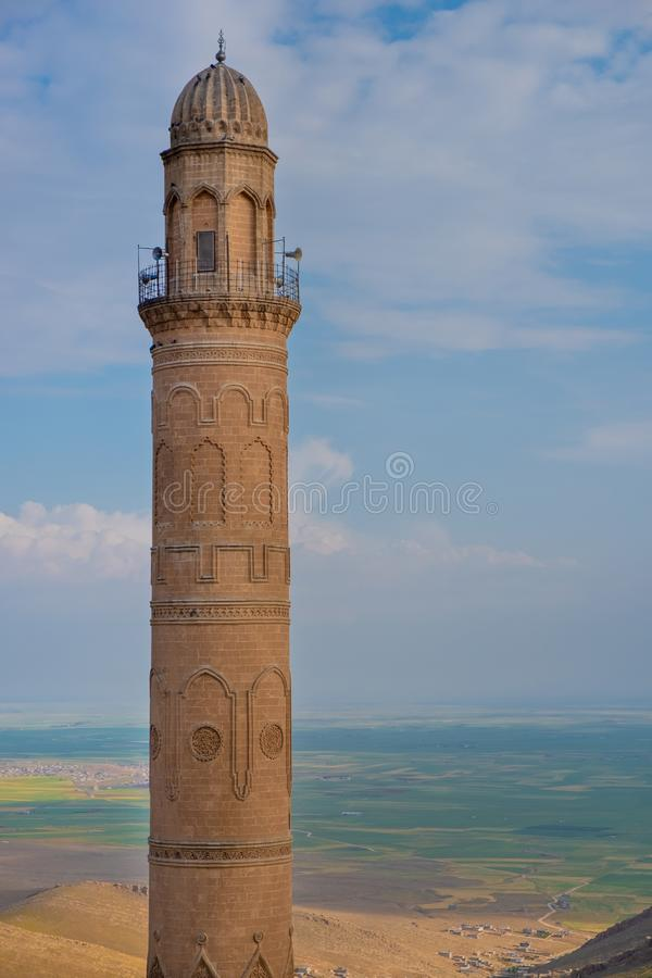 清真大寺的尖塔 免版税库存照片