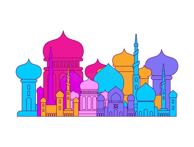 清真寺伊斯兰教的宗教大厦 Musli的传染媒介例证 皇族释放例证