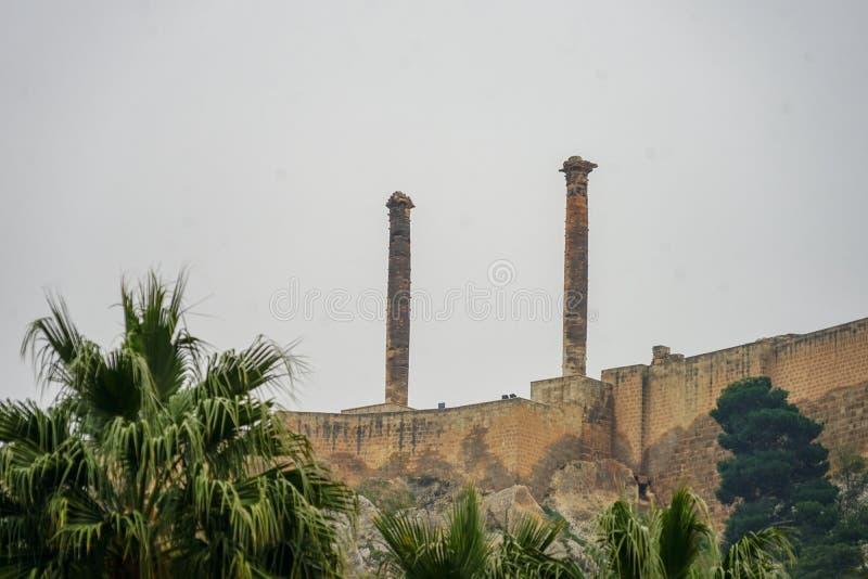 清真寺和历史工作视图从Urfa土耳其 免版税库存图片