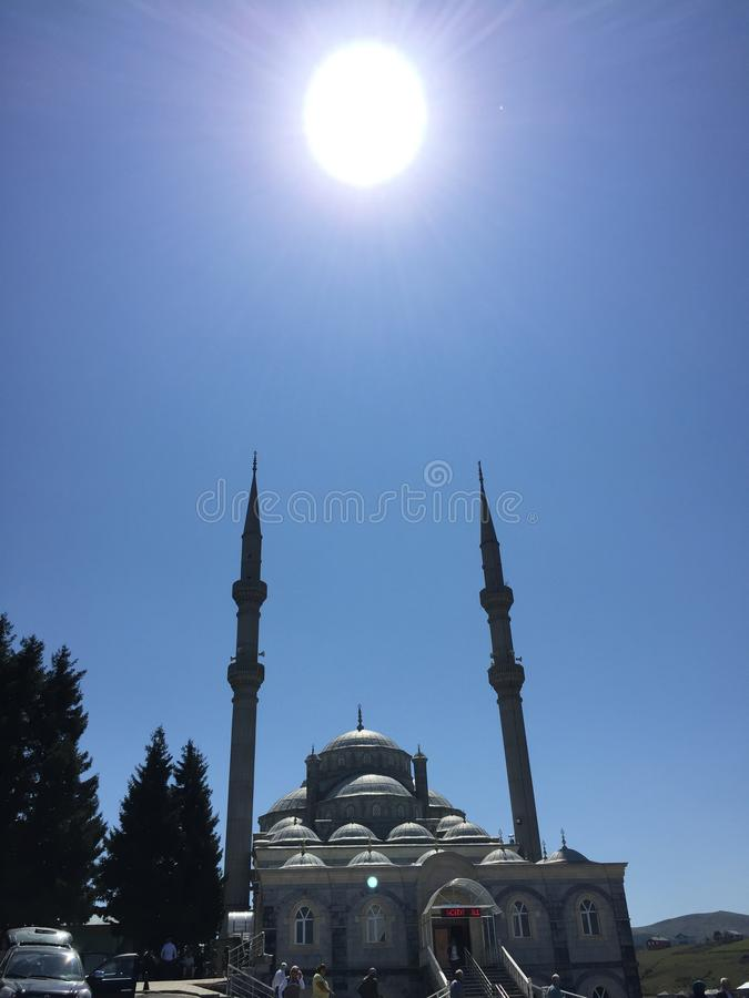 清真寺和太阳 库存照片