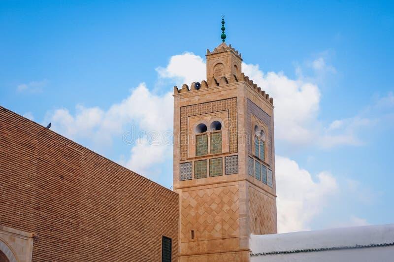 清真寺和陵墓在凯鲁万 免版税库存照片