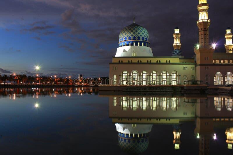 清真寺在亚庇沙巴 免版税库存图片