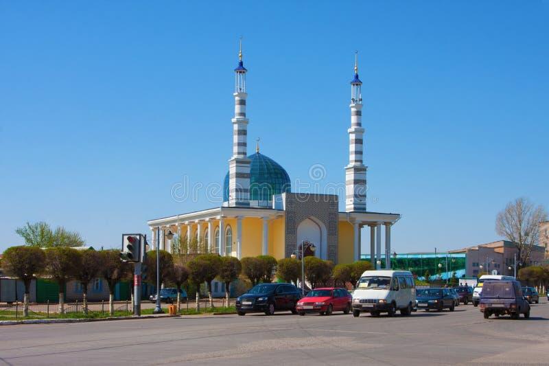 清真寺在市乌拉尔斯克,哈萨克斯坦 图库摄影
