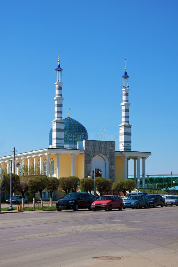 清真寺在市乌拉尔斯克,哈萨克斯坦 免版税库存图片