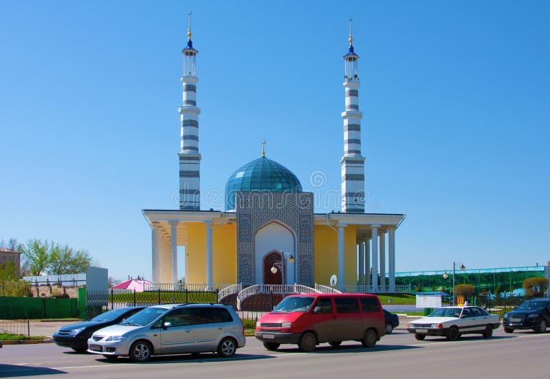 清真寺在市乌拉尔斯克,哈萨克斯坦 库存图片