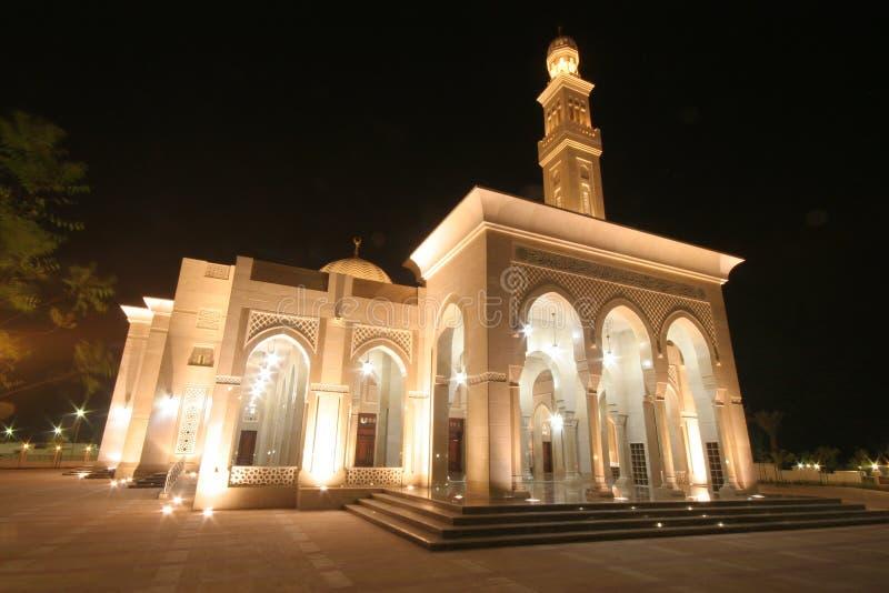 清真寺在晚上 免版税库存图片