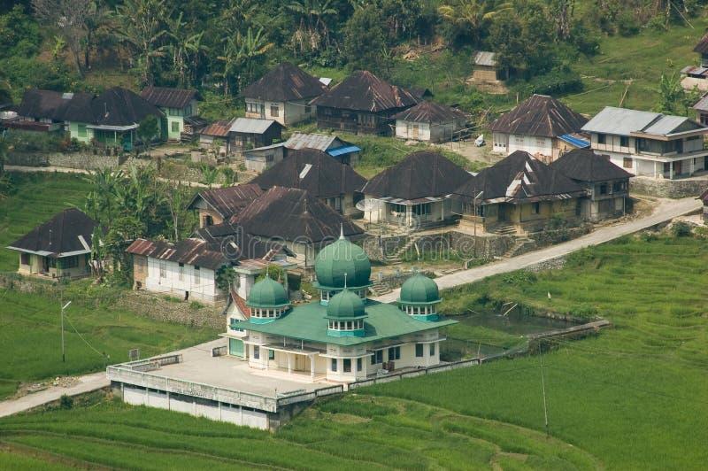 清真寺在村庄。 库存照片