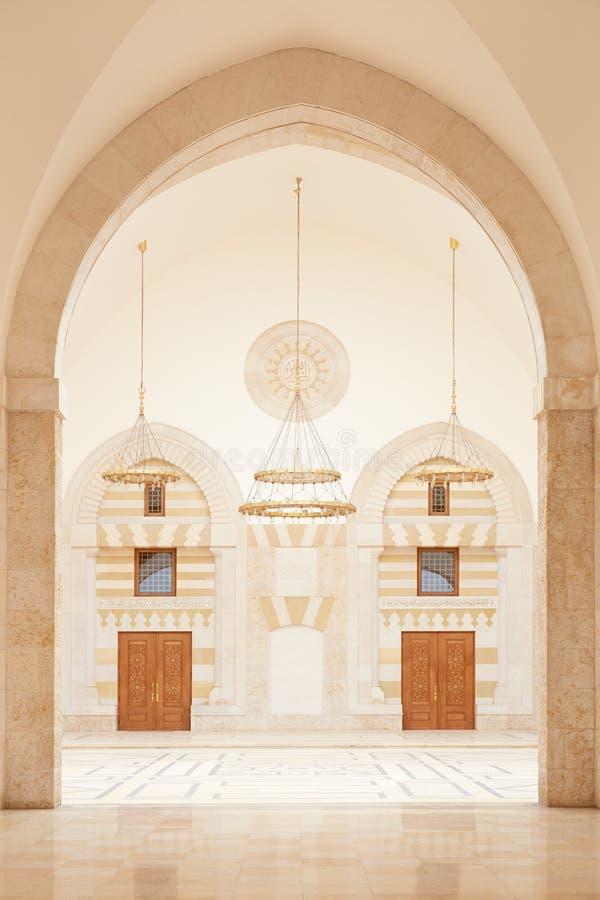 清真寺在阿曼,约旦 库存图片