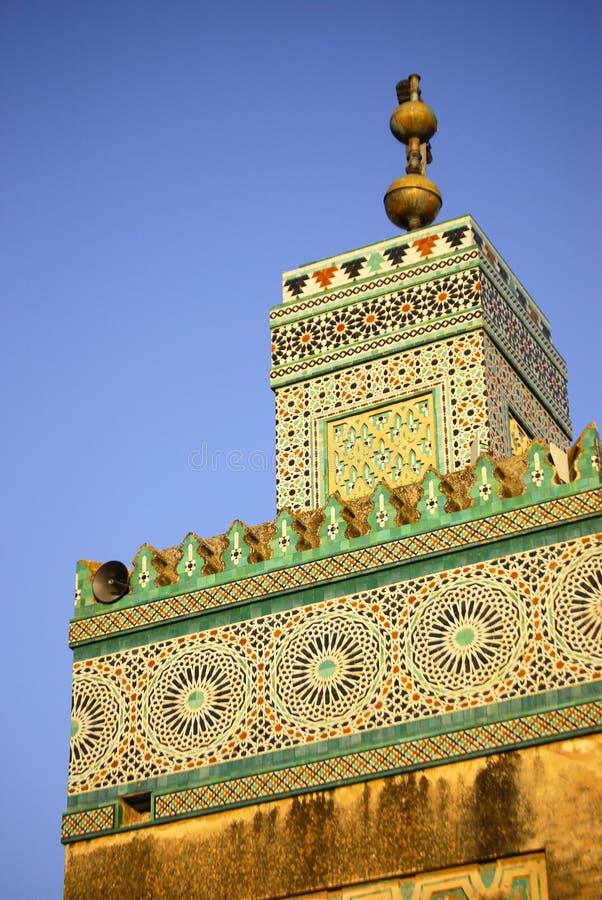 清真寺塔楼,摩洛哥 库存照片