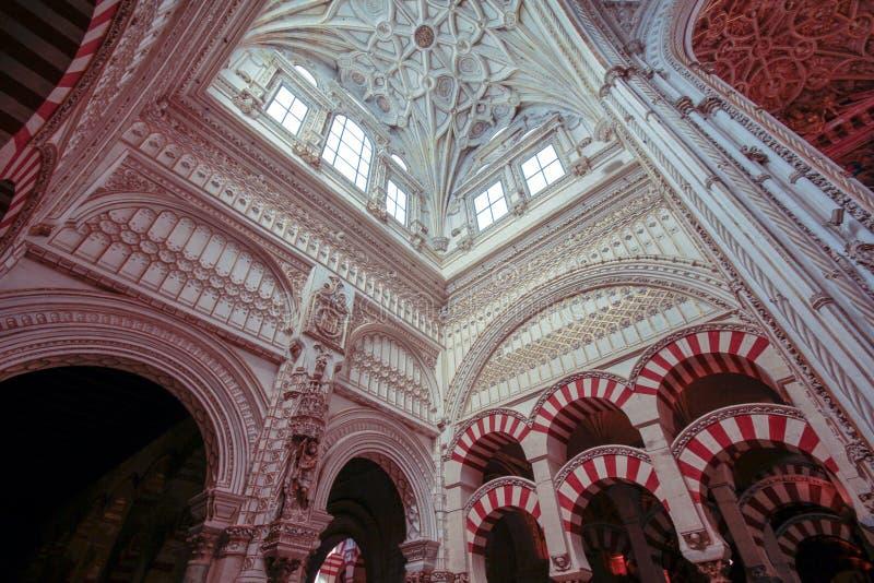 清真寺大教堂的圆顶在科多巴 西班牙安达卢西亚 库存图片