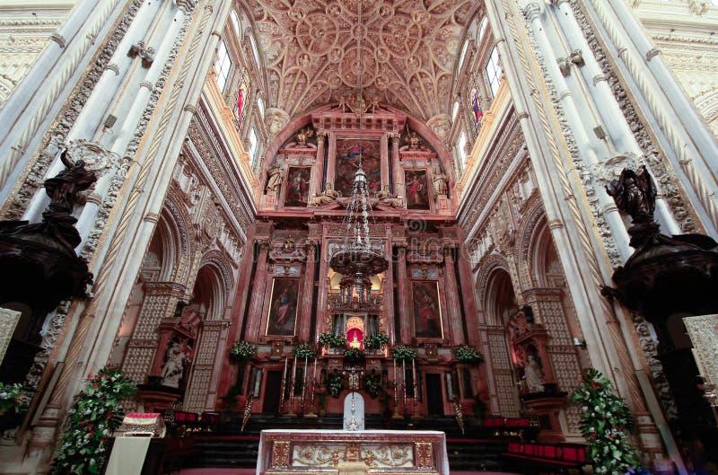 清真寺大教堂的圆顶在科多巴 西班牙安达卢西亚 免版税库存图片