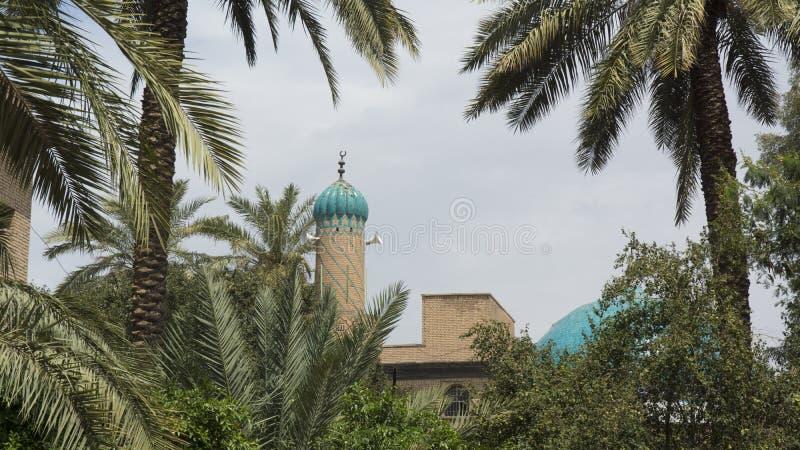 清真寺尖塔在巴格达,伊拉克 库存图片