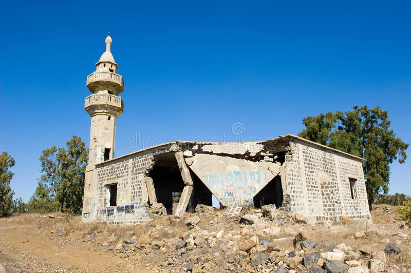 清真寺废墟 免版税库存照片