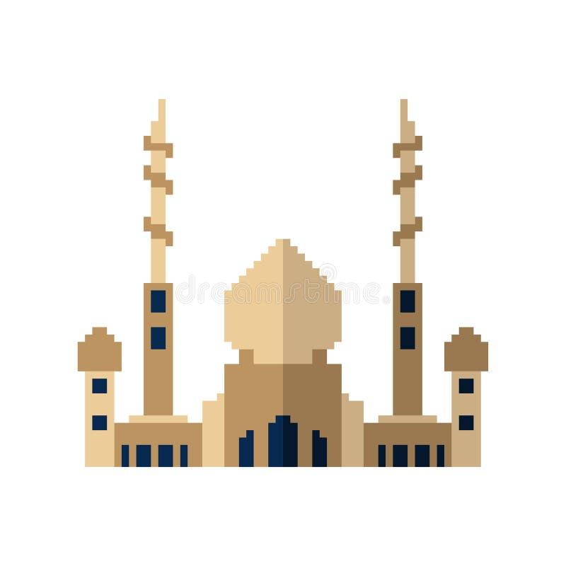 清真寺映象点艺术 伊斯兰教的宗教寺庙8位 传染媒介illustr 皇族释放例证