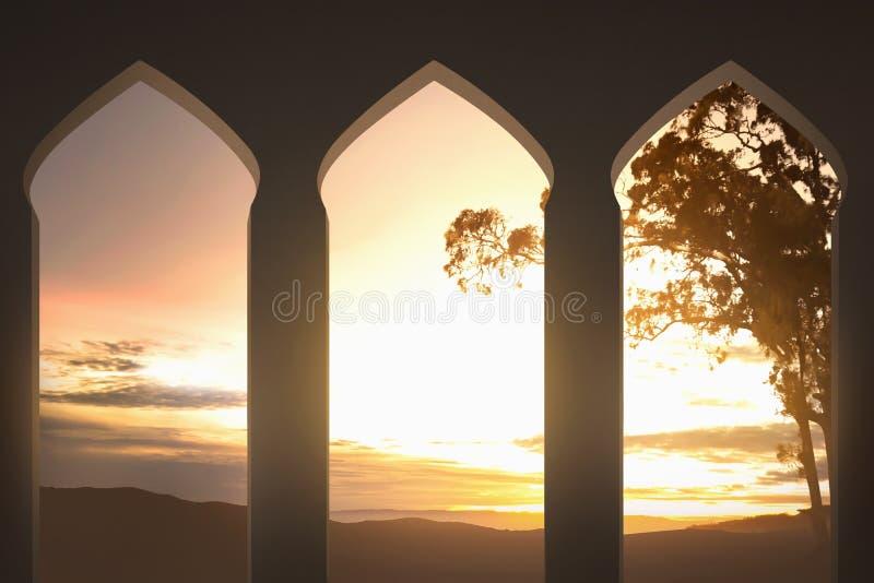 清真寺曲拱 库存图片