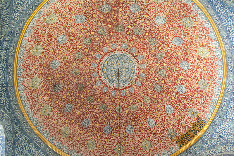 清真寺的内部在伊斯坦布尔 库存图片