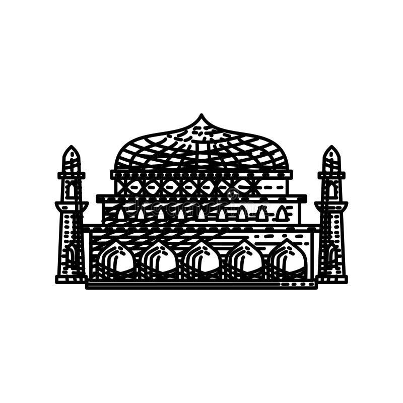 清真寺象传染媒介例证设计模板 皇族释放例证