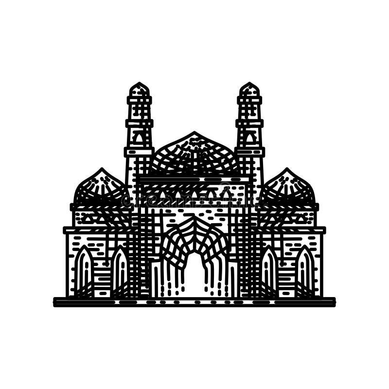 清真寺象传染媒介例证设计模板 库存例证