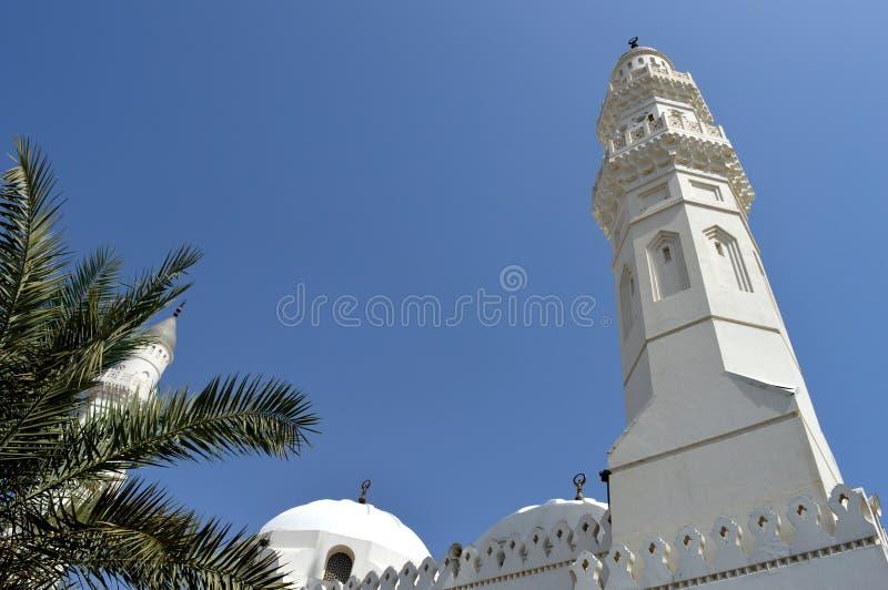清真寺 Masjid?? Madinah 沙特阿拉伯 伊斯兰教的地标 库存照片