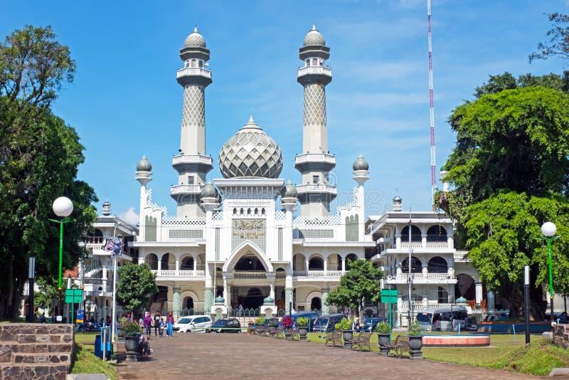 清真寺Masjid阿贡玛琅在玛琅Java印度尼西亚 库存照片