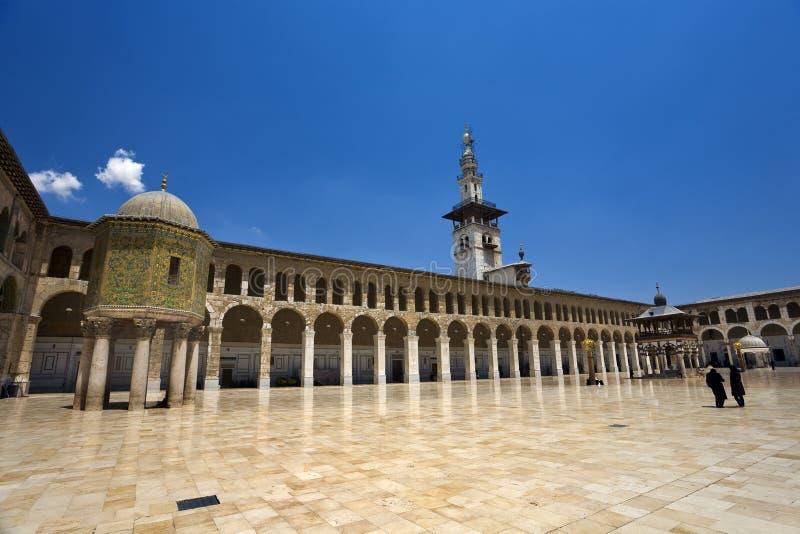 清真寺omayyad 免版税库存照片
