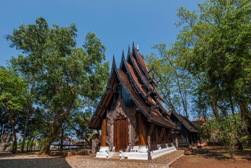 清莱在北泰国黑色议院博物馆 免版税图库摄影