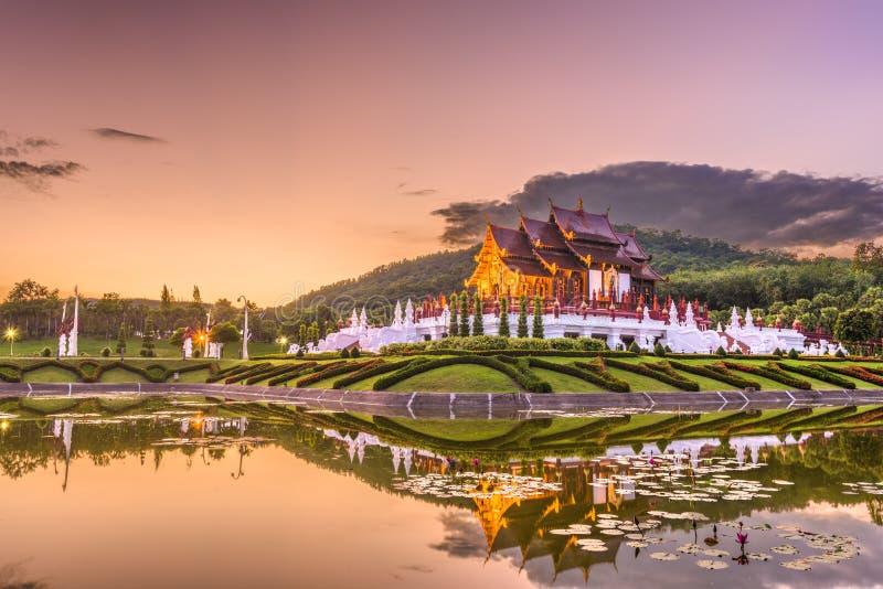 清迈、泰国公园和亭子 图库摄影