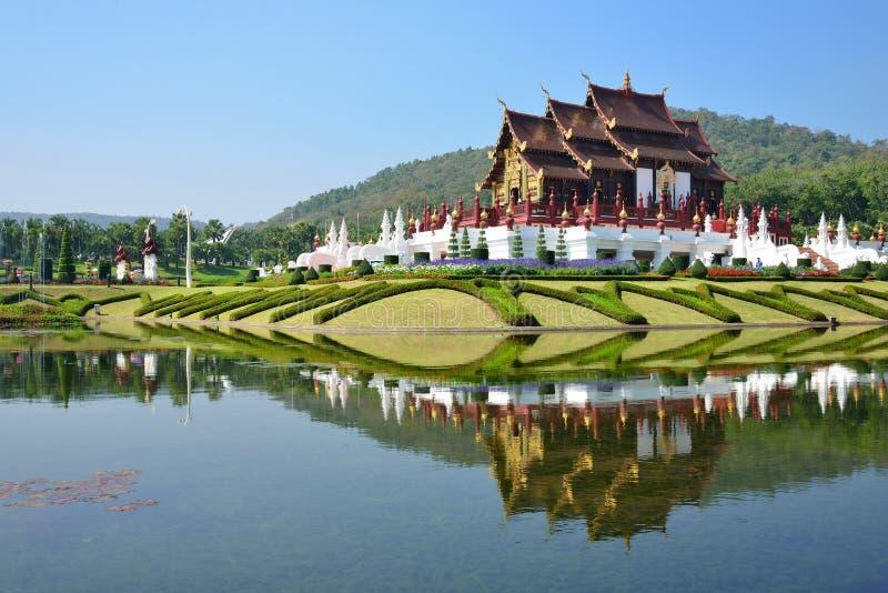 清迈,泰国, Ho皇家植物群商展的,传统泰国建筑学西康省Luang 免版税库存图片