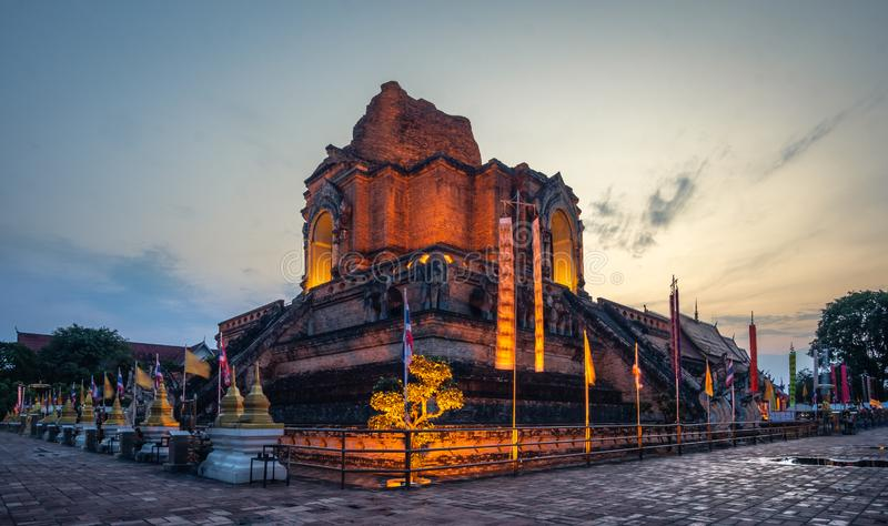 清迈,Wat的Chedi Laung泰国 免版税库存图片
