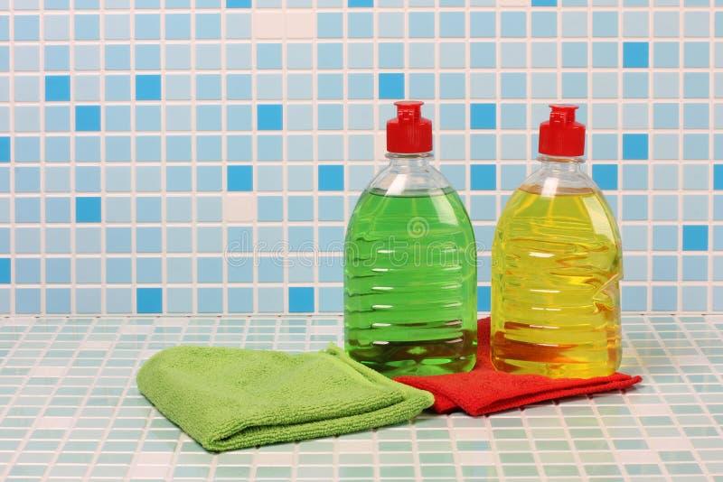 清洁产品和肥皂 免版税库存图片