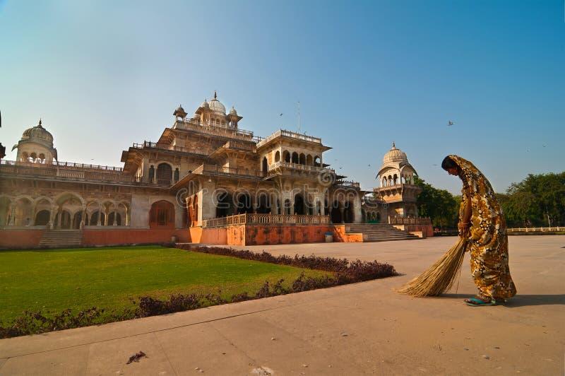 清洗印度-城市宫殿 免版税图库摄影