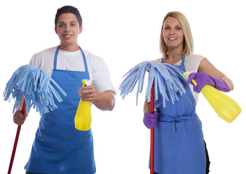 清洁女工人服务擦净剂妇女人工作职业yo 免版税库存图片