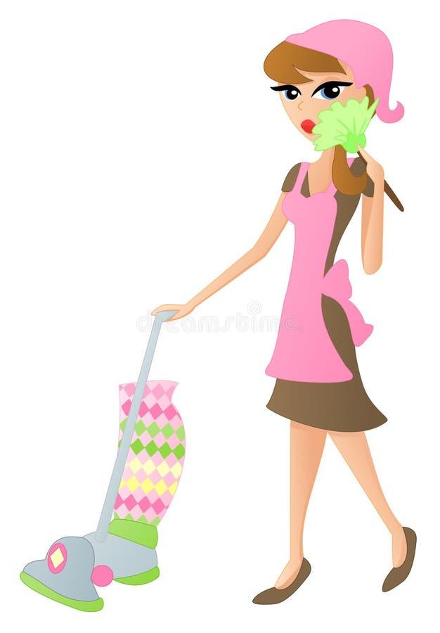 清洁女工 向量例证