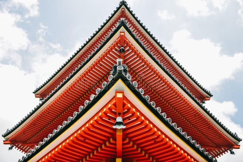 清水寺寺庙特写镜头在京都,日本 图库摄影