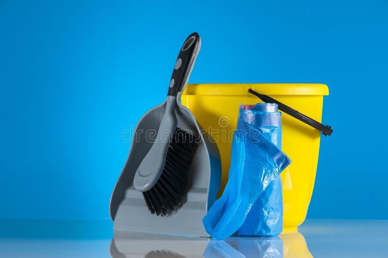清洁成套工具 库存照片