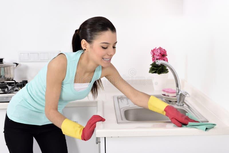 清洗房子 图库摄影