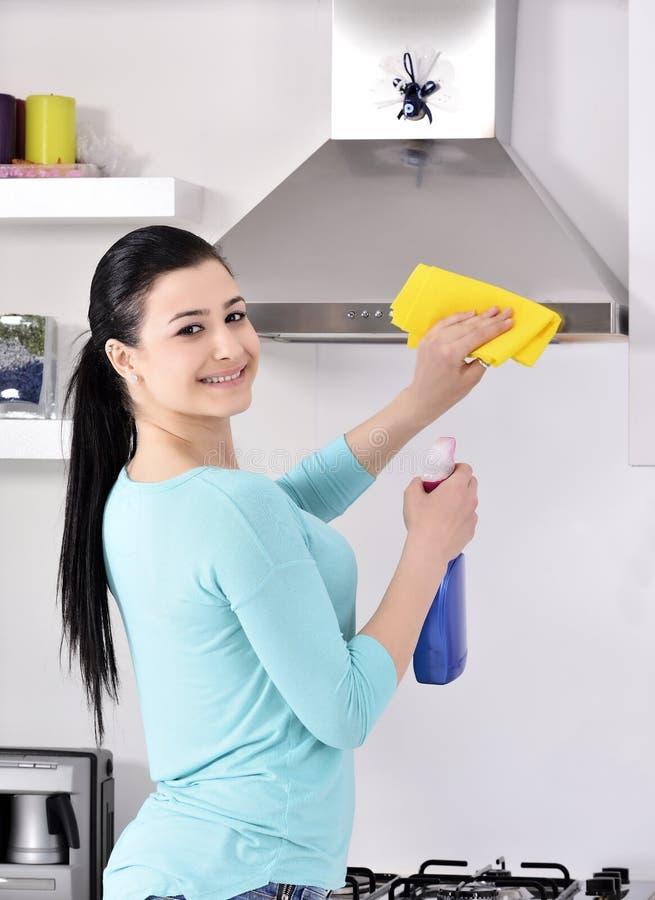 清洗房子 免版税库存照片