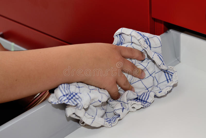 清洗抽屉 库存图片