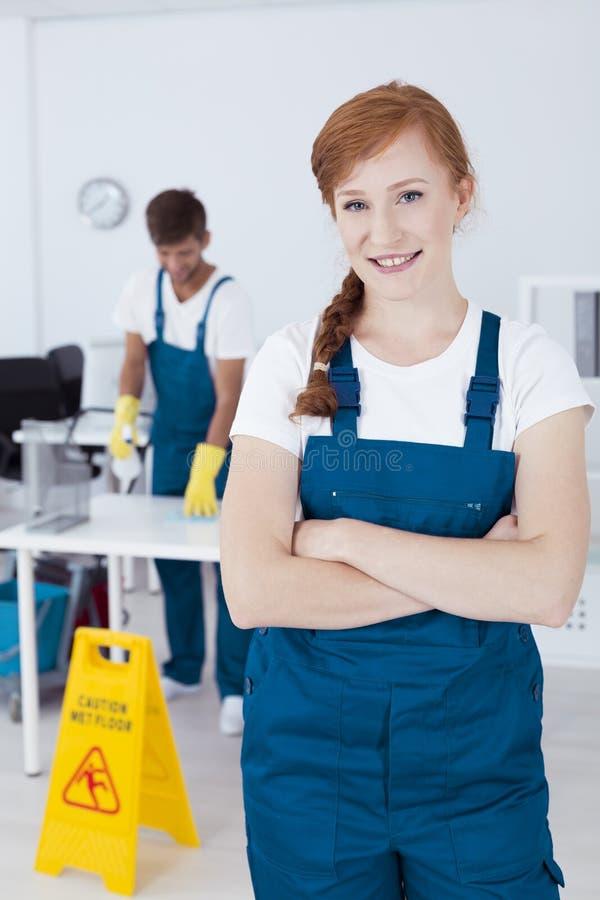清洁服务工作者 免版税库存照片