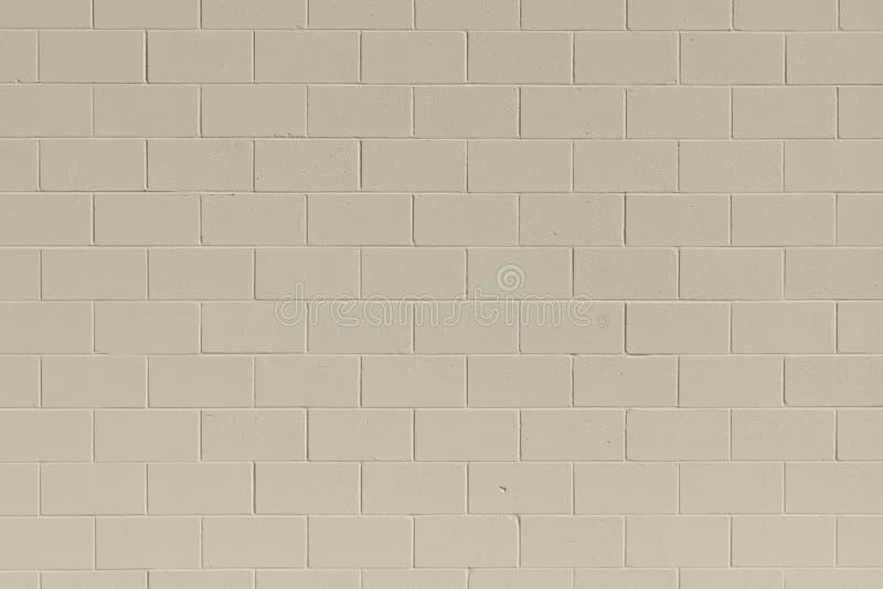 清洗棕褐色的普通砖煤渣砌块墙壁背景 免版税库存照片