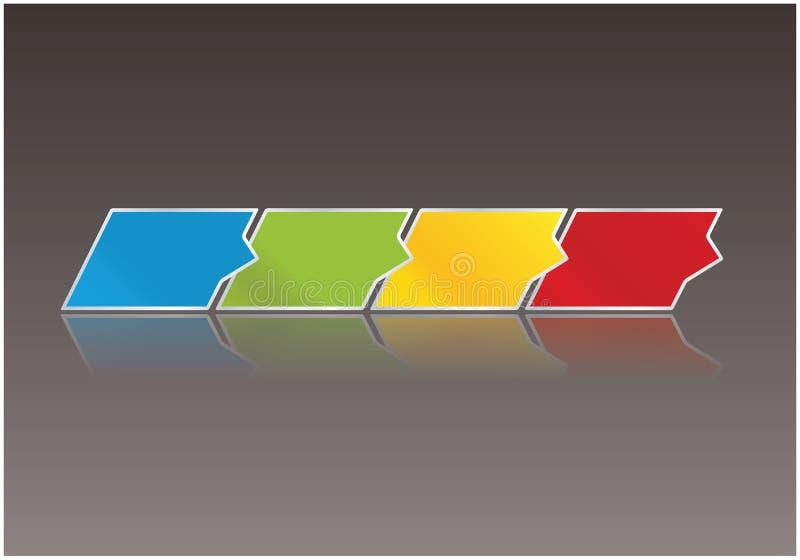 清洗现代传染媒介模板。与空间的三个设计箭头为 向量例证