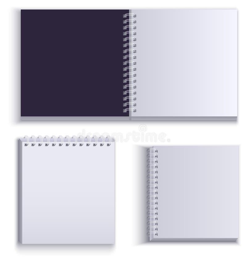 清洗笔记的空的纸笔记薄 皇族释放例证