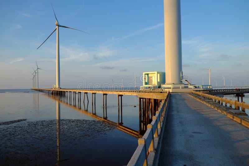 清洁能源,风力植物 库存图片