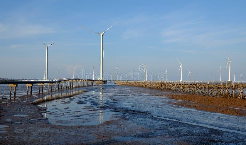 清洁能源,风力植物 免版税库存照片