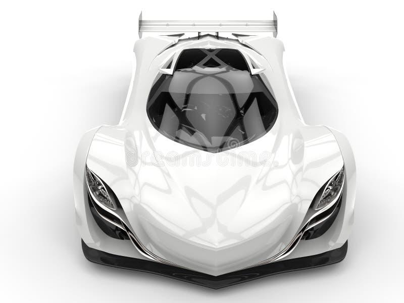 清洗车的上面下来观看的白色未来派赛跑的概念 库存例证