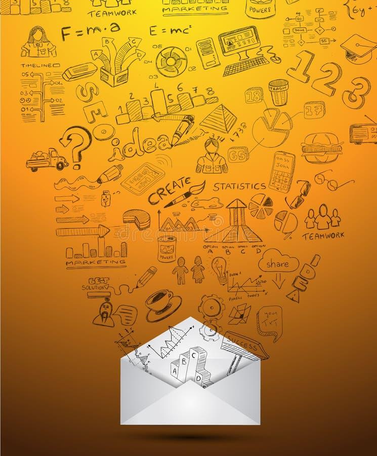 清洗Infographic数据和信息分析的布局模板 向量例证