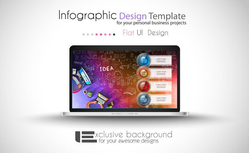 清洗Infographic数据和信息分析的布局模板 库存例证